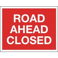 Road Ahead Closed - Class 1 Reflective Signs