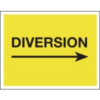Diversion (Arrow Right) - Class 1 Reflective Signs
