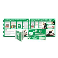 AED Awareness Sign and Poster Kits