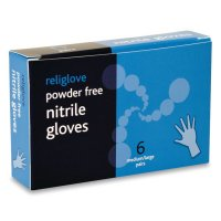Chemical-Resistant Blue Nitrile Gloves