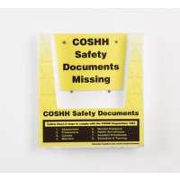 COSHH Safety Document Holder