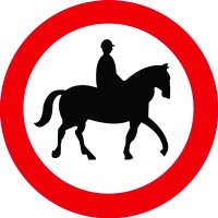 Traffic Signs - No Ridden or Accompanied Horses