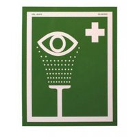 Aluminium Emergency Eyewash Fountain Sign