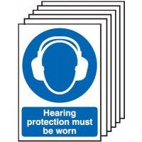 Hearing Protection Must Be Worn Signs - 6 Pack
