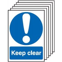 Keep Clear Signs - 6 Pack