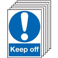 Keep Off Signs - 6 Pack