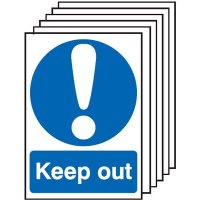 Keep Out Signs - 6 Pack