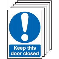 Keep This Door Closed Signs - 6 Pack