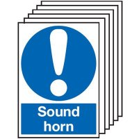 Sound Horn Signs - 6 Pack