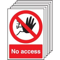 Handy pack of six no access signs