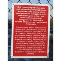 Durable School Trespass Signs