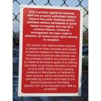 Durable School Trespass Signs