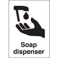 Plastic And Vinyl Soap Dispenser Signs