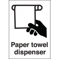 Plastic and vinyl paper towel dispenser signs