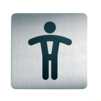 Self-Adhesive Male Toilet Square Picto Sign