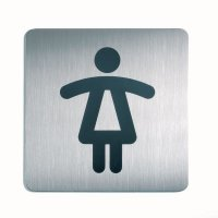 Stainless Steel Female Toilet/Washroom Picto Sign