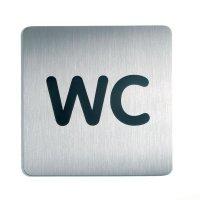 Universal toilet sign tile