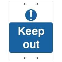 Durable and Clear 'Keep Out' Temporary Post-Mounted Signs