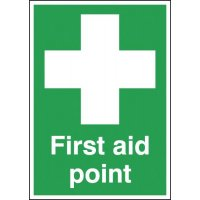 Versatile and compliant first aid point signs