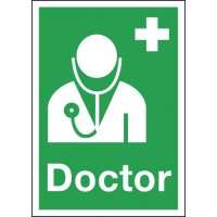 Highly noticeable 'Doctor' first aid signs