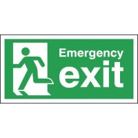 Self-Adhesive Running Man Emergency Exit Signs