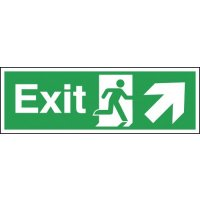 Exit (Arrow Diagonal Right & Up) Signs