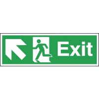 Exit (Arrow Diagonal Left & Up) Signs