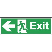 Exit (Arrow Left) Signs