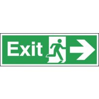 Exit (Arrow Right) Signs