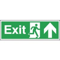 Upwards Arrow Emergency Exit Sign