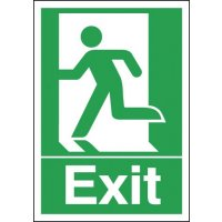 Self-Adhesive Exit Running Man Sign