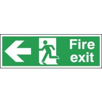 Fire Exit (Arrow Left) Polycarbonate Signs