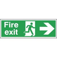Vital Fire Exit Signs With Right-Pointing Arrow And Running Man