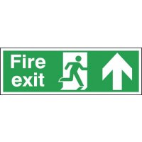 Fire Exit (Running Man & Arrow Up) Signs