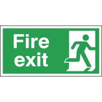 Essential Fire Exit Signs With Right-Facing Running Man Pictogram
