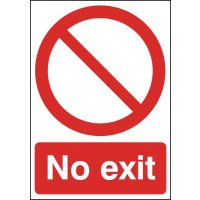 Clear & Durable No Exit Signs