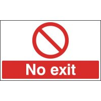 Anti-slip laminate floor signs stating no exit