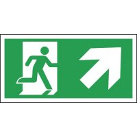 Running Man Exit Sign (Arrow Right & Up)