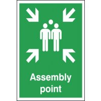 Essential Plastic And Vinyl Emergency Assembly Point Signs