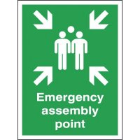 Weather-Resistant 'Emergency Assembly Point' Aluminium Sign