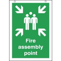 Fire Assembly Point Double-Sided Hanging Signs