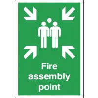 Durable Plastic Fire Assembly Point Signs