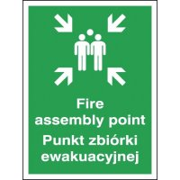 Fire Assembly Point Punkt Polish/English Signs