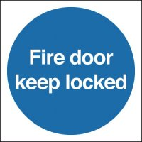 Fire Door Keep Locked Polycarbonate Signs