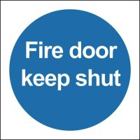 Plastic Or Vinyl Fire Door Keep Shut Symbol Signs