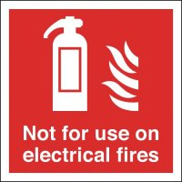 Glow-in-the-Dark 'Not For Use on Electrical Fires' Extinguisher Sign
