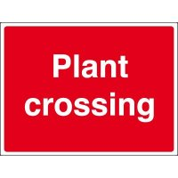 Rigid plastic plant crossing sign