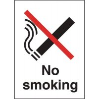 Durable Rigid Plastic 'No Smoking' Sign with Stylish Metal-Look Finish