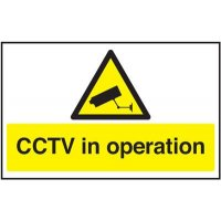 CCTV In Operation Window Fix Signs