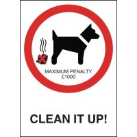 £1,000 fine dog fouling warning sign